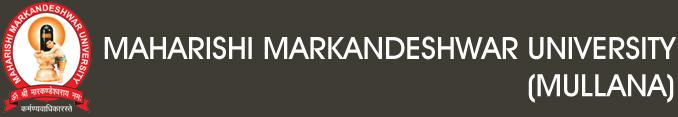Maharishi Markandeshwar University, Mullana logo