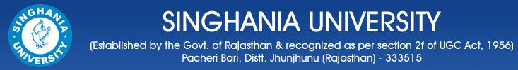 Singhania University logo