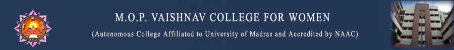 MOP Vaishnav College for women logo