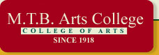 M .T. B Arts College logo